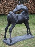 Enzo Plazzotta, Italian 1921 - 1981, Dieter's Foal, Bronze, Signed and Numbered 6 from an Edition of 9, 155 cms high by 131 cms long, £031