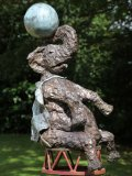 Jim Unsworth, Born 1958, Matriarch with Ball, Bronze, Signed and Numbered 1 of 5, 105cms high by 61cms wide by 58cms deep, bb