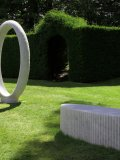 Jonathan Loxley, Born 1960, Origin, Carrera Marble, Unique, 182cms high by 86cms wide, bench 151cms long by 55cms wide, £12k -18k072