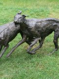 Marjan Wouda, Running dogs, bronze, edition of , 170cms Long £8-10k119