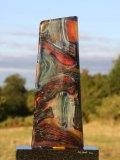 Martyn Barratt, Funnel, Glass & Granite Base, Unique, 70cms High, 40cms Wide, 12cms Deep bb
