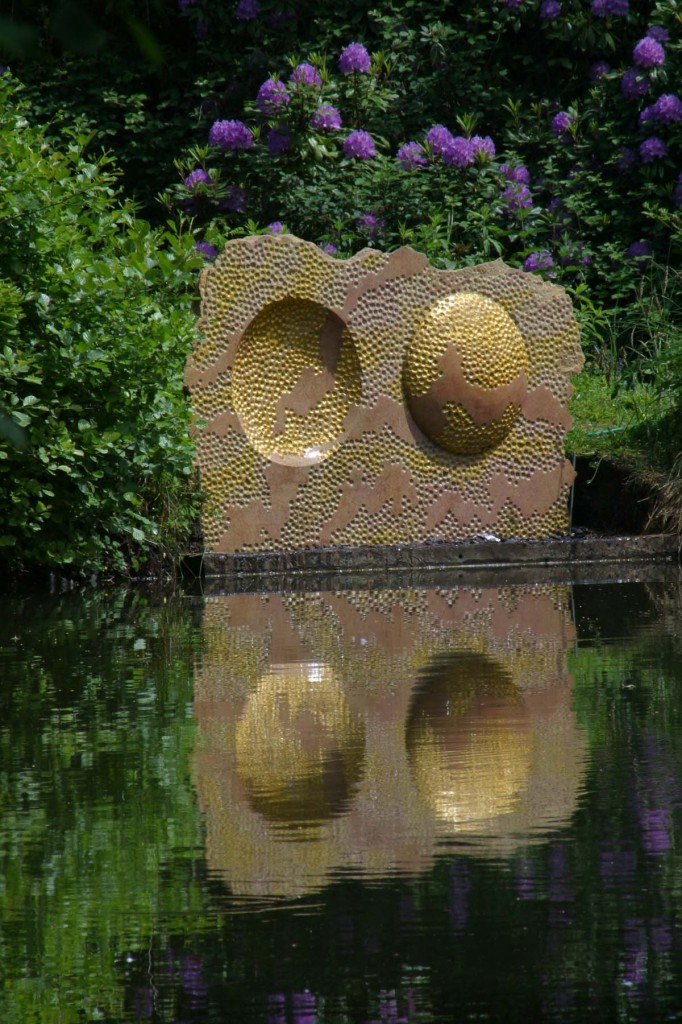 Two Worlds, Clipsham Stone and Gold Leaf, Unique