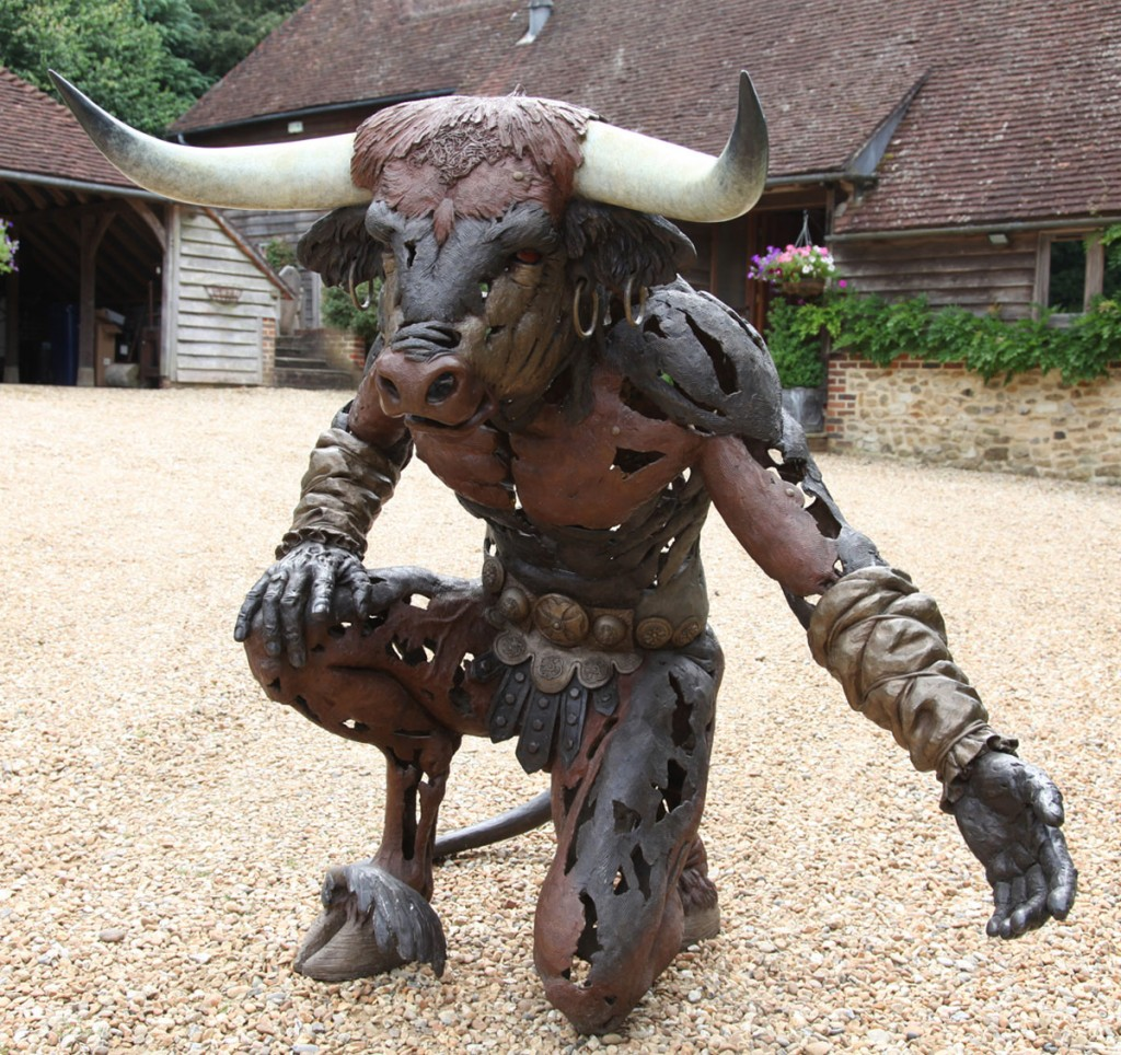 Andrew Sinclair, Born 1961, The Minotaur, Bronze, Signed