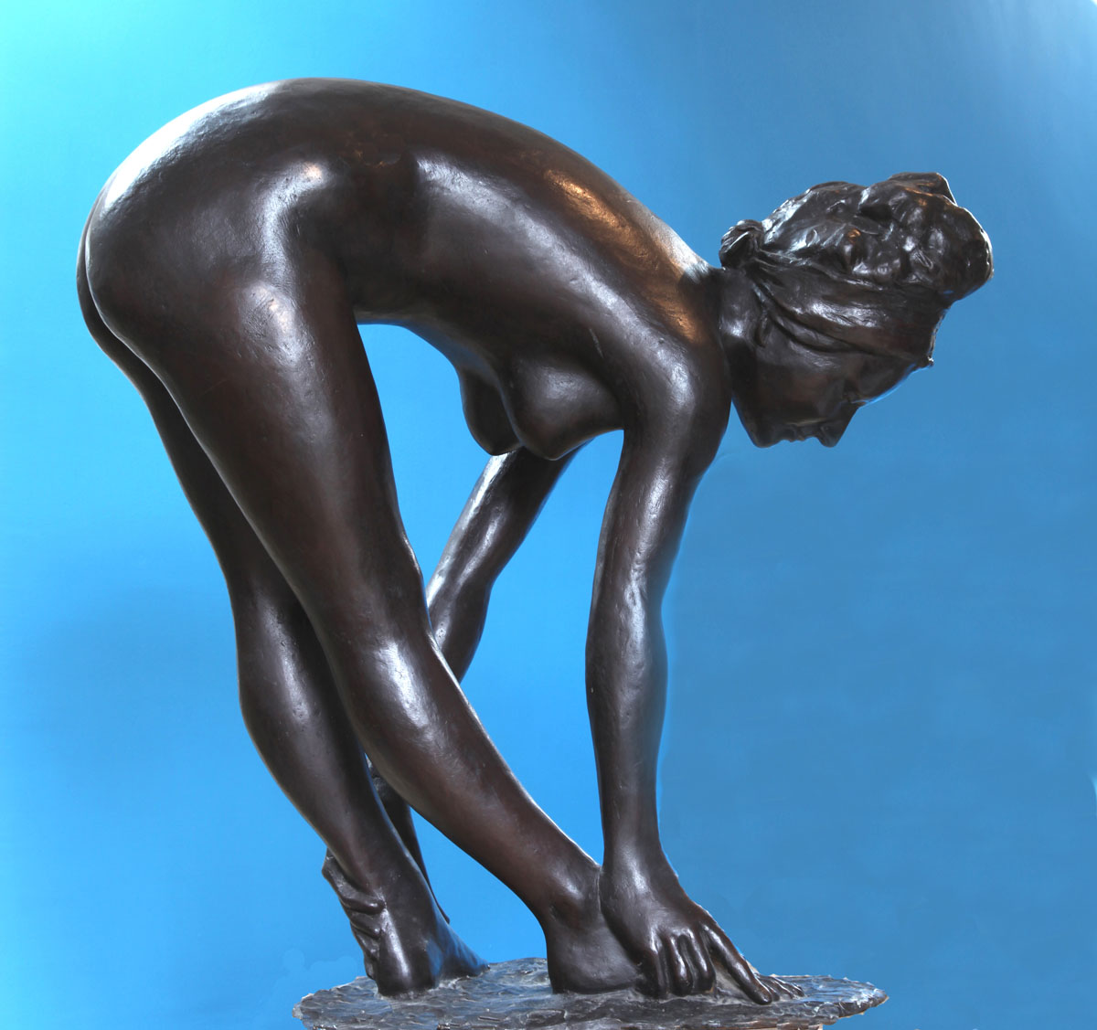 Baigneuse, enzo plazzotta sculpture, bronze