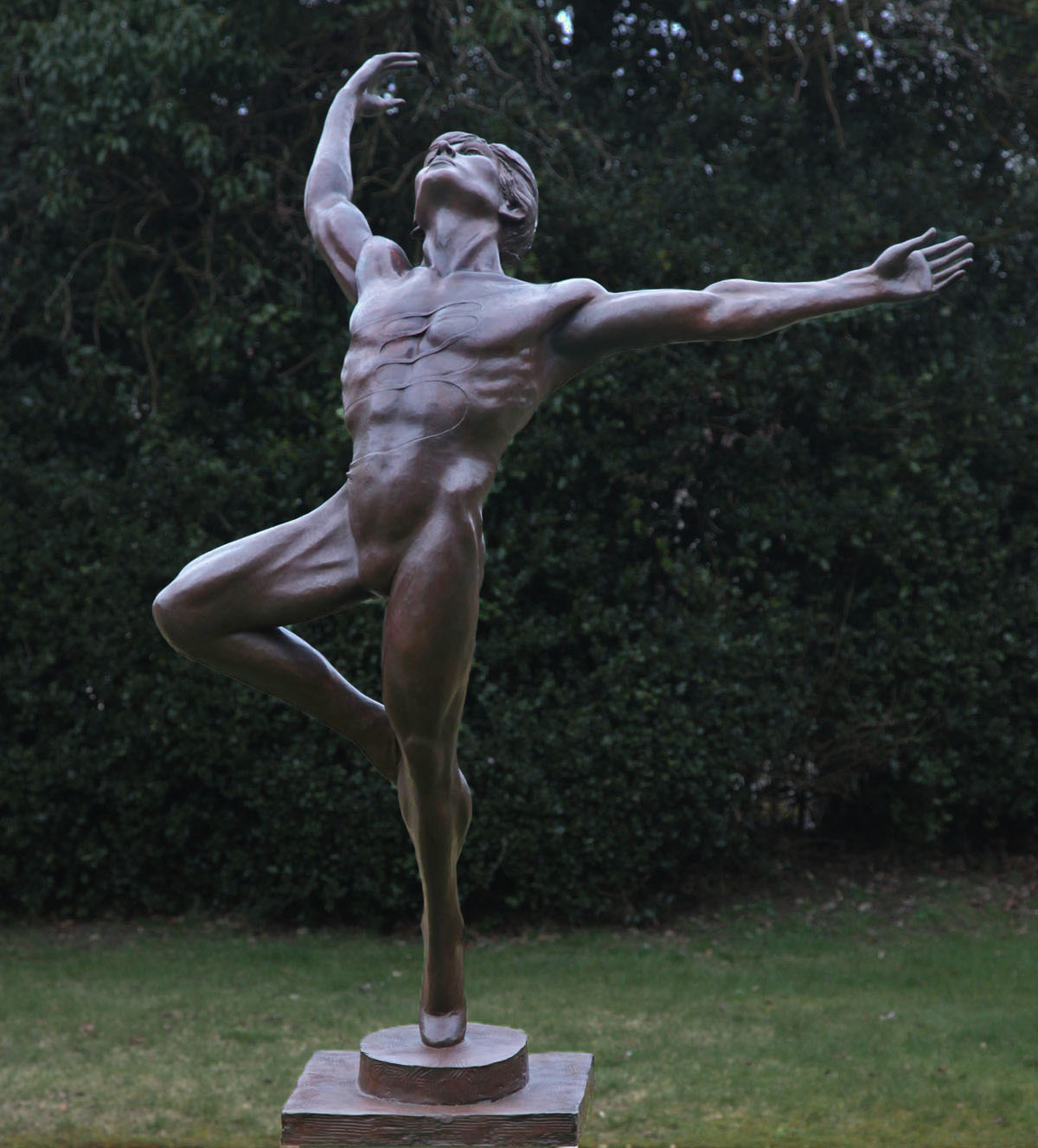 Nureyev, enzo plazzotta sculpture, bronze