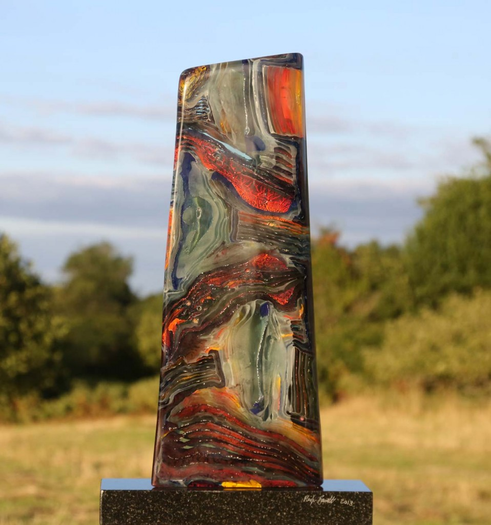 Funnel, Glass on Granite Base, Unique